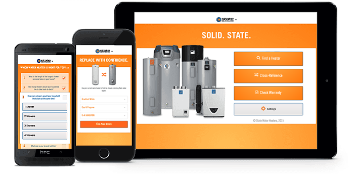 The State Water Heaters app for iOS and Android devices