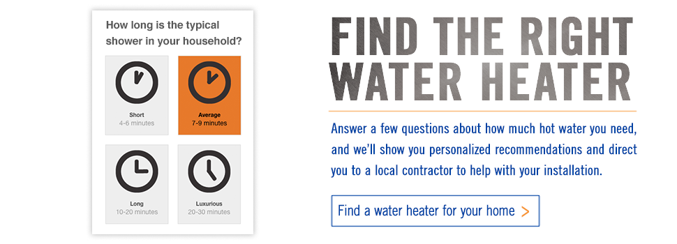 Find A Residential Water Heater