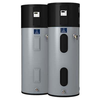 An electric tankless water heater.
